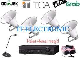 Toa sound system paket mesjid lbh hemat ,produk Ori hrga distributor