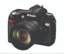 Nikon D70 Camera with lenses and accessories