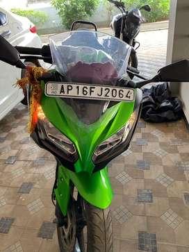 Kawasaki Ninja 300 Lime Green Ebony colour