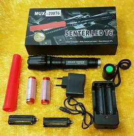 Senter LED Bonus 2 Baterai&Charger