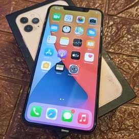 Iphone 11 pro max 256gb gold fullset