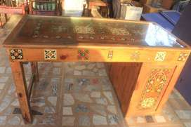 Diyar wood solid table and chair for sale