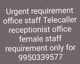 Urgent requirement female staff