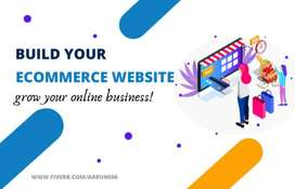 create ecommerce website, wordpress ecommerce website, online store