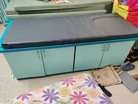 Multifunctional single bed with storage.