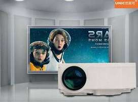 LED HD Projector watch TV Movies on Big 100inch Screen Connect Mobile