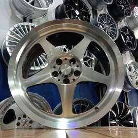 Velg Mobil Sienta Corolla Altis Ring 17 Pelek Racing HSR R17 Lebar 7,5