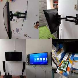 Pasang bracket Dudukan tv di dinding
