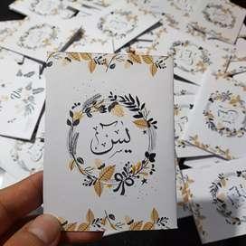Yasin mini souvenir pernikahaan