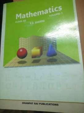 R.D sharma mathematics class 12 volume-1&volume-2