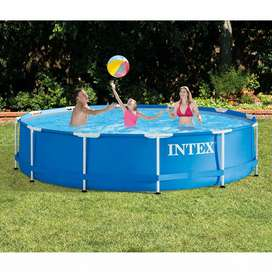 Intex 28210 (size:12ft/30inc) round metal frame pool for summer.