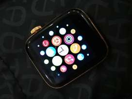 Smart watch Bluetooth connectivity gold color