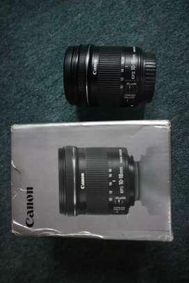 Jual lensa canon 10-18mm