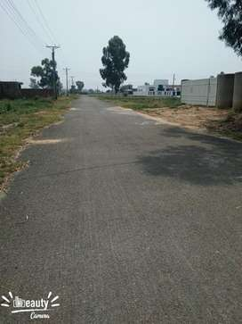 Kanal plot for sale in Chinar bagh Facing park demand 66 lac