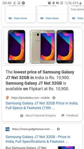 Galaxy J7 nxt for sale