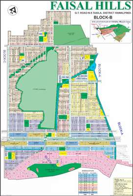 Faisal hills best investment time in B block Plot file available