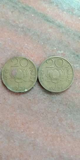 50 Year Old 20 Paisa Coin