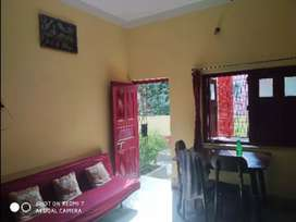 Marble floored house with garden on rent
