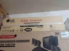 AC 1/2 PK LG Inverter 06EV4 + Pasang