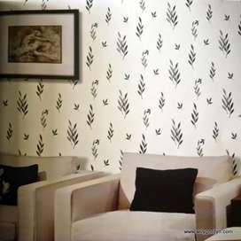 Dekorasi dinding mewah dengan Wallpaper bahan terbaik