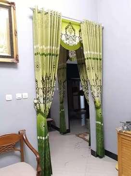 Interior cantik gordyn kordyn bermotip hasil karya penjahit handal XDR