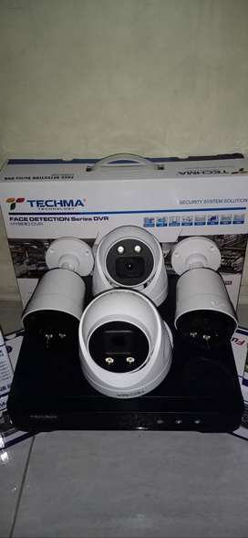 Promo Cctv Techma FullColor gelap berwarna