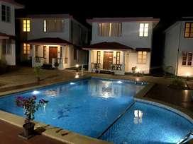 Fully Furnished Pool Facing , 4 side open Villa in Anjuna