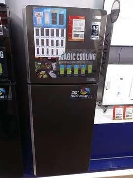 kulkas aqua 2 pintu bisa kredit tanpa Dp tanpa jaminan