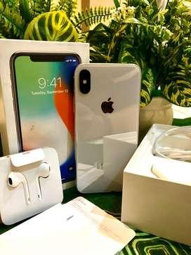 iPhone X Silver 256GB Fullset 100% Originale