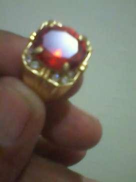 Batu red safir natural