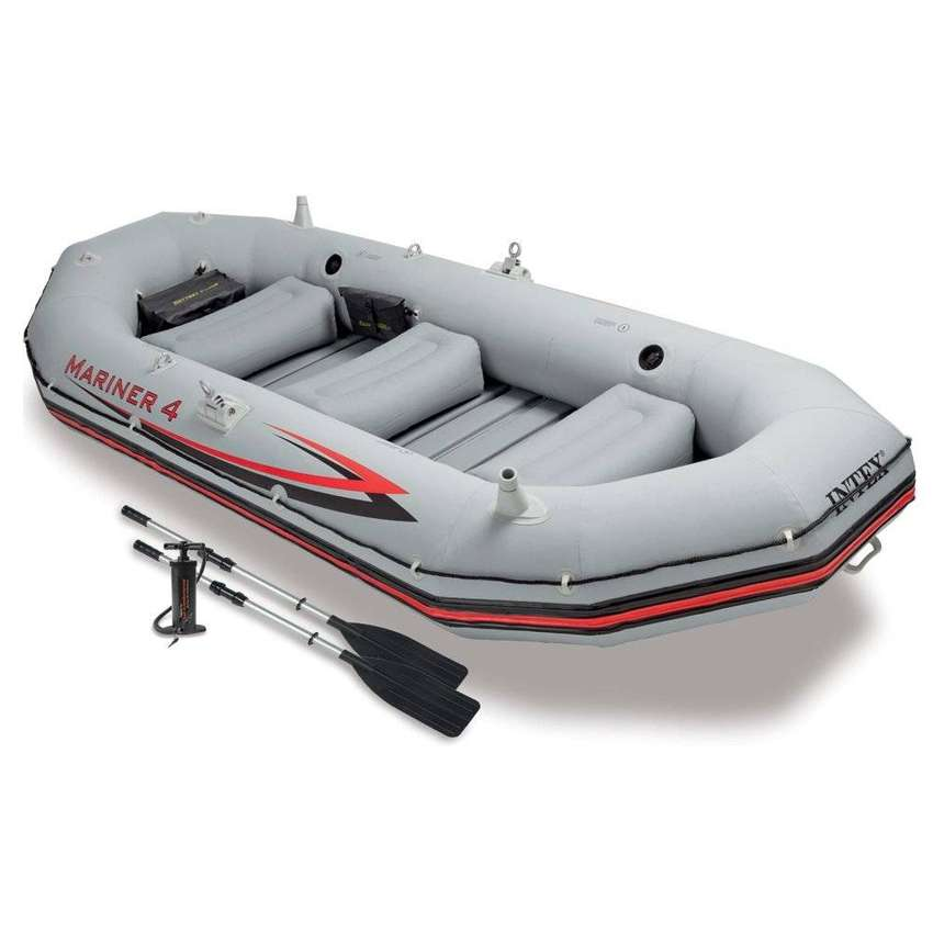 Mariner 4 Boat Set INTEX WITH COMPLETE ACCESSORIES fishing 0