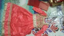Pink shahi gown at cheap price