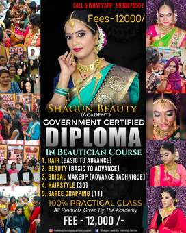 Government Beauty Parlour Course at 12000/