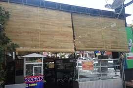 tirai bambu buat tampis hujan