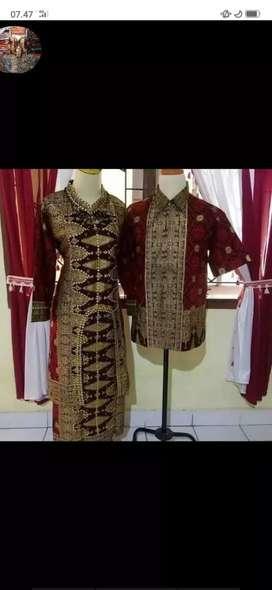 baju batik songket palembang