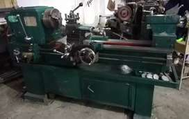 Leathe machine with motor