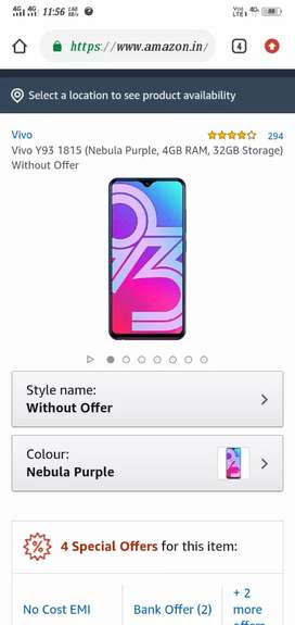 Very Urgent sale my phone Vivo Y93 4/32GB only 8 month old
