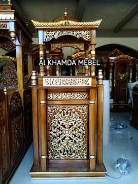 Ready mimbar masjid kubah ukiran kaligrafi free ongkir
