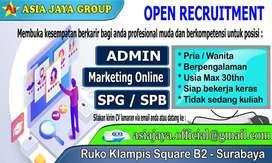 Admin,Marketing Online, dan SPG/SPB