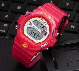 jam tangan digitec original warna merah limited terbatas