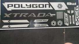 Stiker polygon xtrada