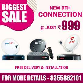 AIRTEL ,TATA SKY and  DISH all HD DTH Connection Same Day Delivery avl