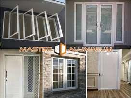 Pintu Jendela Kusen Kaca Kamar Mandi Aluminium Geser Sliding Lipat Su