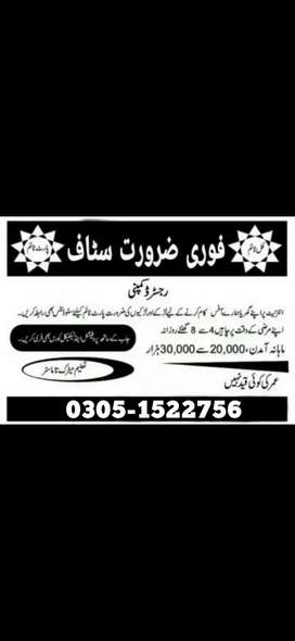 Job for students, Male and females {Part time,full time }