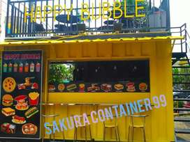 Container burger, container booth cafe, container makanan, container