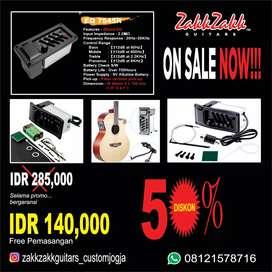 Preamp EQ akustik gitar 7545R promo Gratis pemasangan