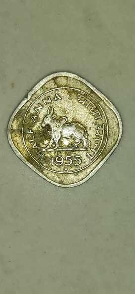 Half Anna collection coin