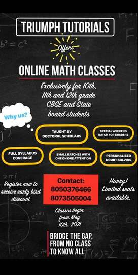 Online Mathematics Tuitions
