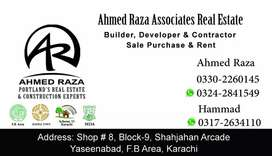 Flat for Rent 3 bed d d Ayesha manzil water pump main Road