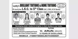 Lucky's BRILLIANT TUITIONS and HOME TUITIONS